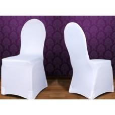 Stretch-Stuhlhusse Standard weiß